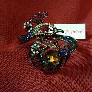NWT Betsey Johnson Peacock Bracelet
